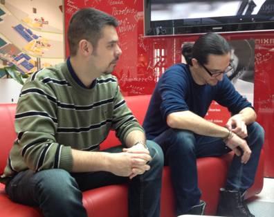 Juraj Hajdin a Michal Farkašovský